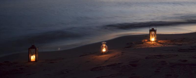 Kerzen am Henne Strand